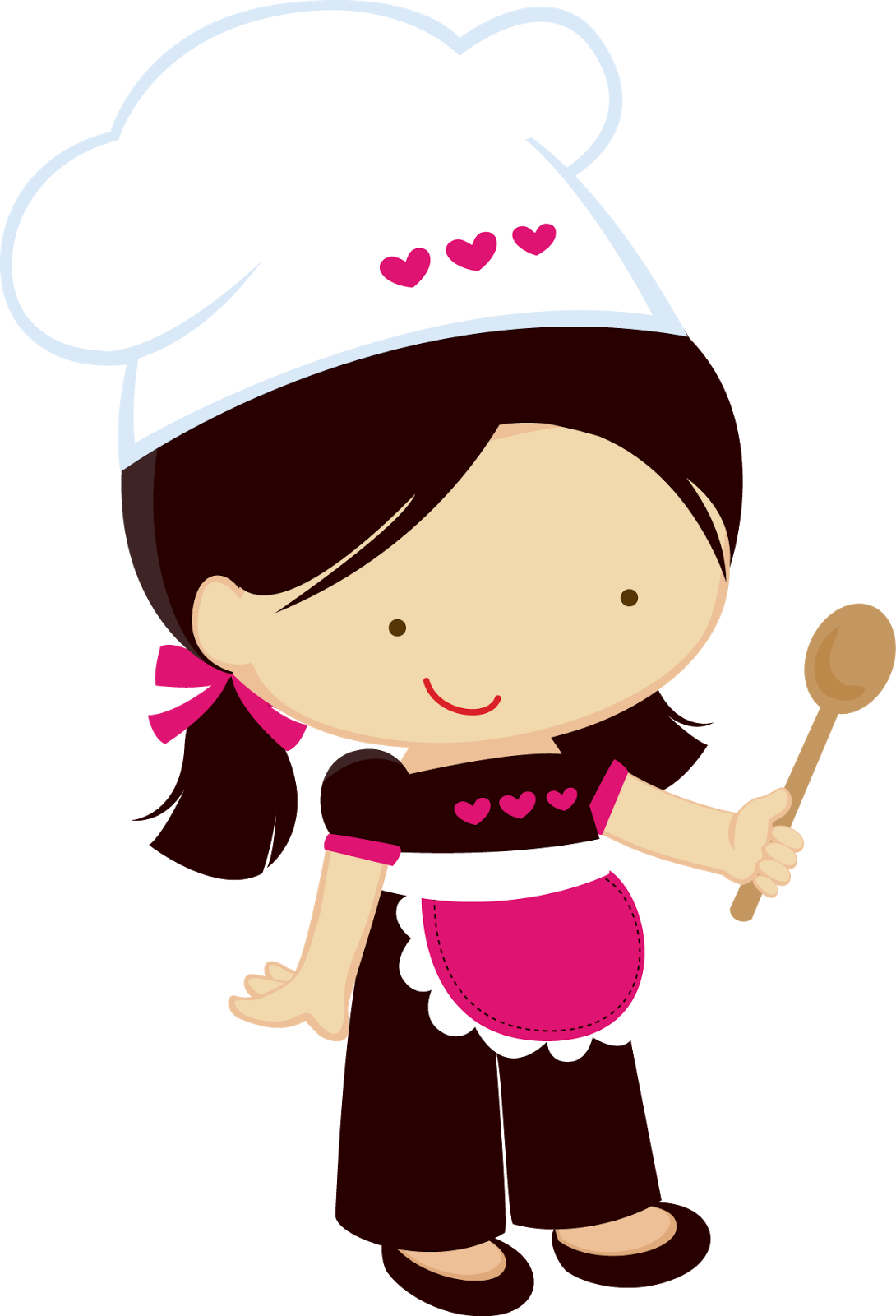 Cute chef woman clipart jpg black and white download Clipart Pequeñas Chefs. | Pequeñas cocineras | Pinterest jpg black and white download