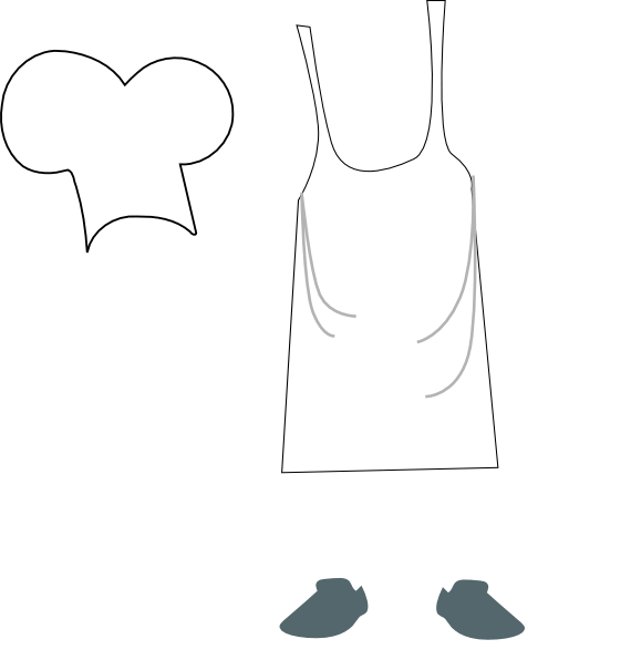 Chef hat and apron clipart clipart freeuse library Chef hat and apron clipart » Clipart Portal clipart freeuse library