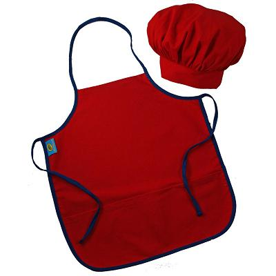 Chef hat and apron clipart clipart Childrens Red Apron Chef Hat - Clip Art Library clipart