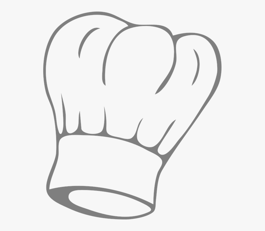 Chef hat cartoon clipart clip black and white stock Chef Hat Png Clear Background - Chef Hat Clip Art #1177741 - Free ... clip black and white stock