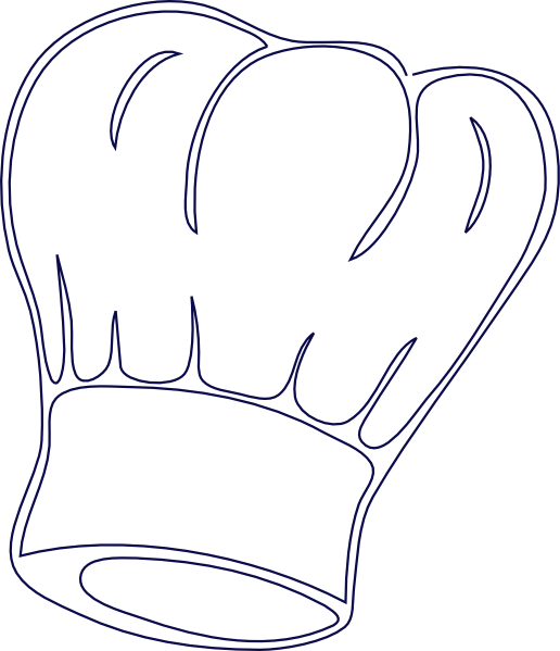 Chef hat clipart png graphic download Outlined Chef Hat Clip Art at Clker.com - vector clip art online ... graphic download