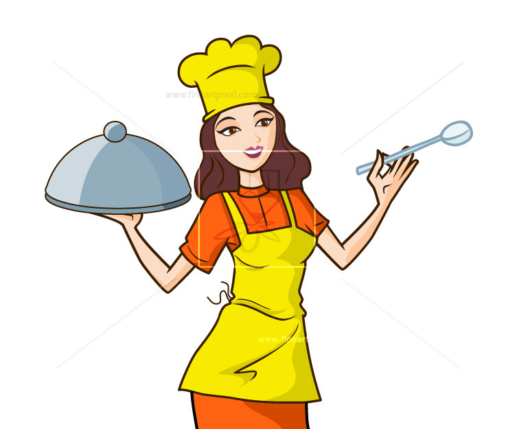 Chef illustration clipart svg royalty free stock Woman chef illustration | Free vectors, illustrations, graphics, clipart ... svg royalty free stock