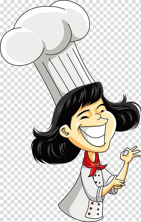 Chef illustration clipart clip free Chef Cartoon Illustration, Female Chef, woman chef illustration ... clip free