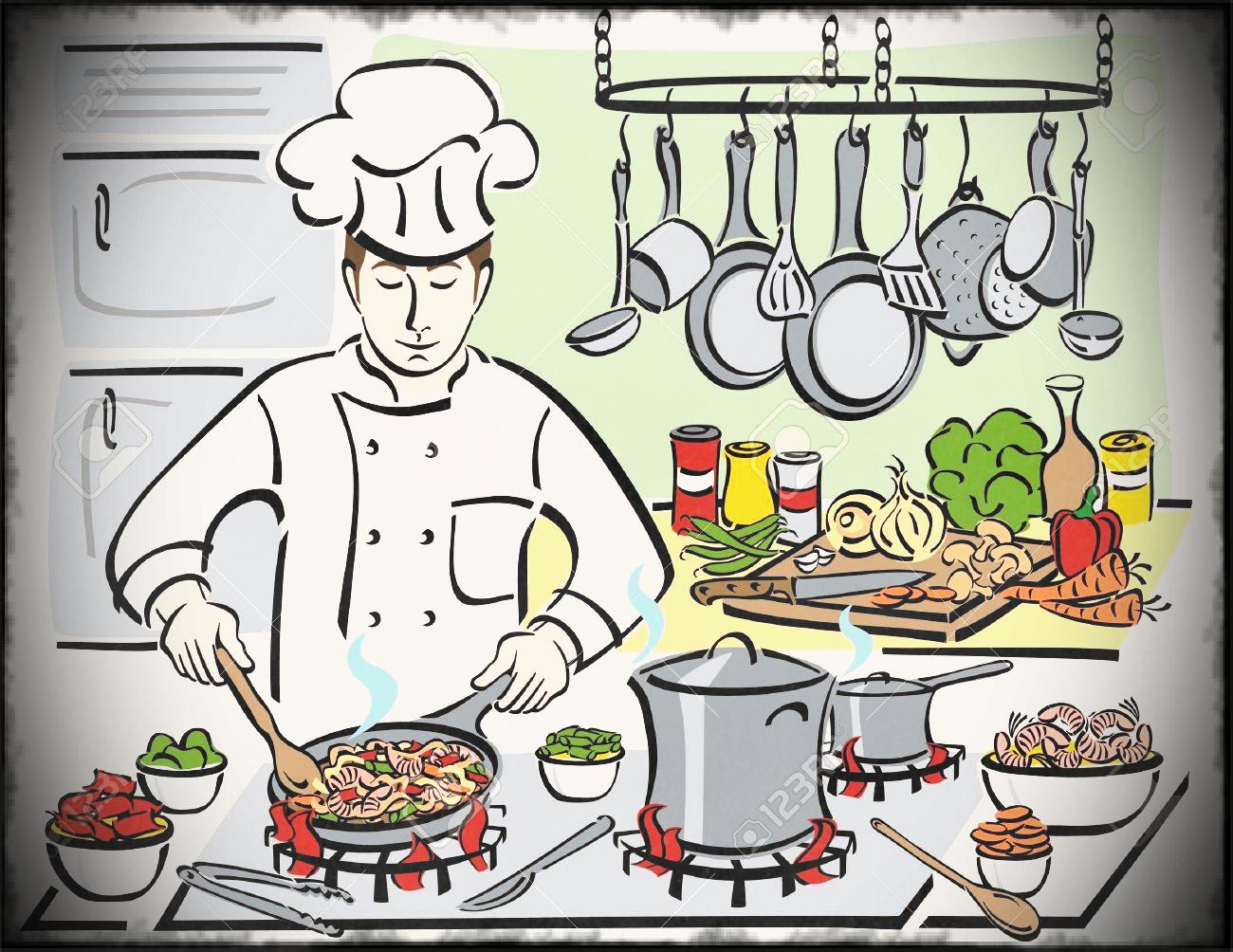 Chef kitchen clipart banner black and white download Chef clipart kitchen chef, Chef kitchen chef Transparent FREE for ... banner black and white download