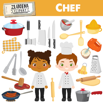 Chef kitchen clipart image freeuse library Chef Clipart Cooking Party clip art Cook Clipart Utensils Kitchen clipart image freeuse library