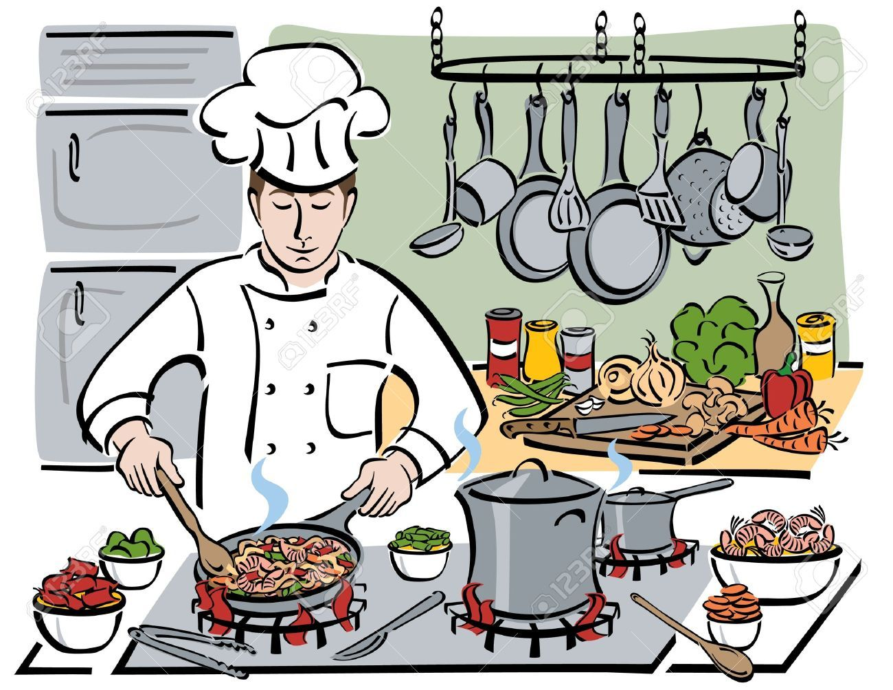 Chef kitchen clipart clipart free library Chef in kitchen clipart 4 » Clipart Portal clipart free library