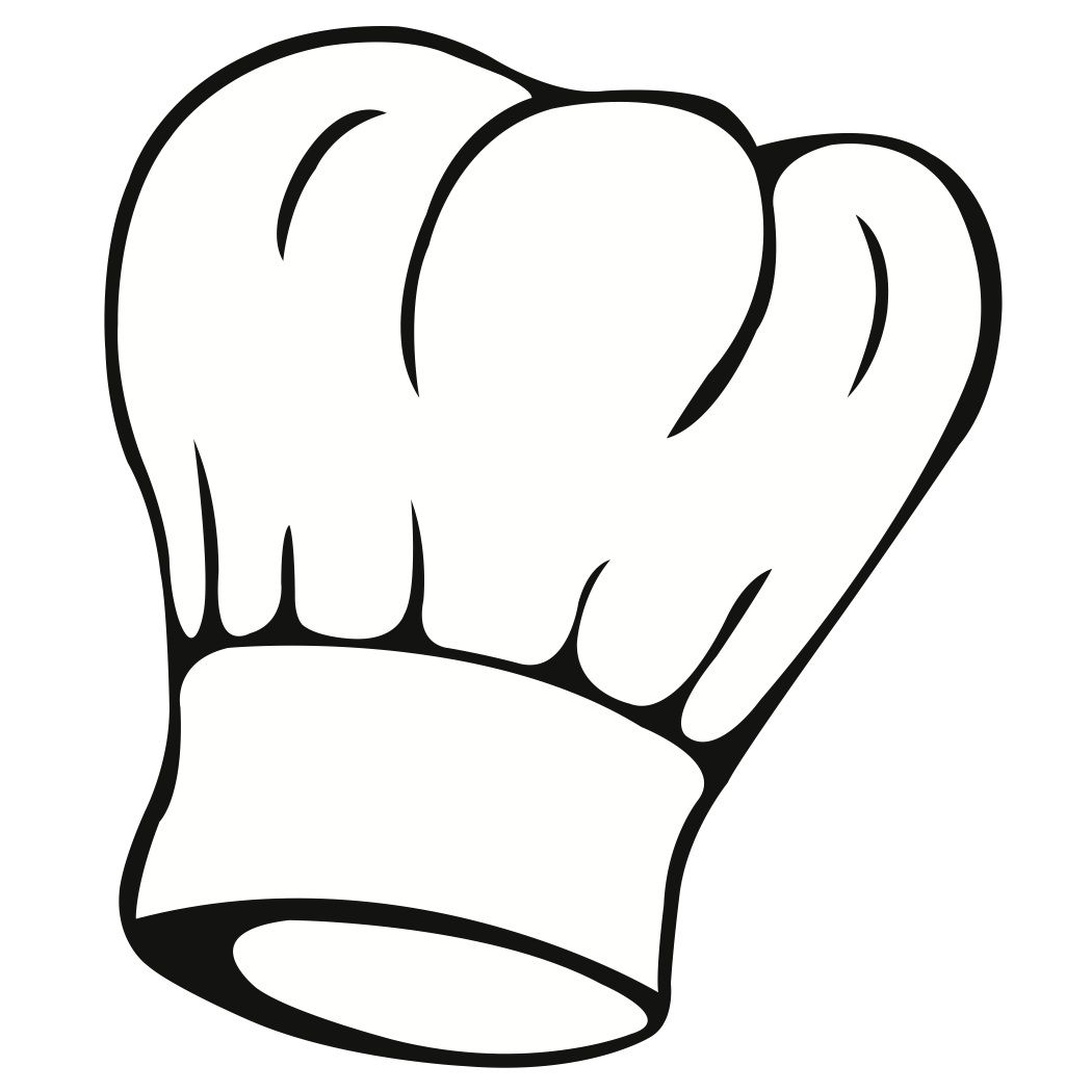 Chef s hat clipart clip free library Free Svg File of a Chef\\'s Hat | cameo | Coloring pages, Kitchen ... clip free library