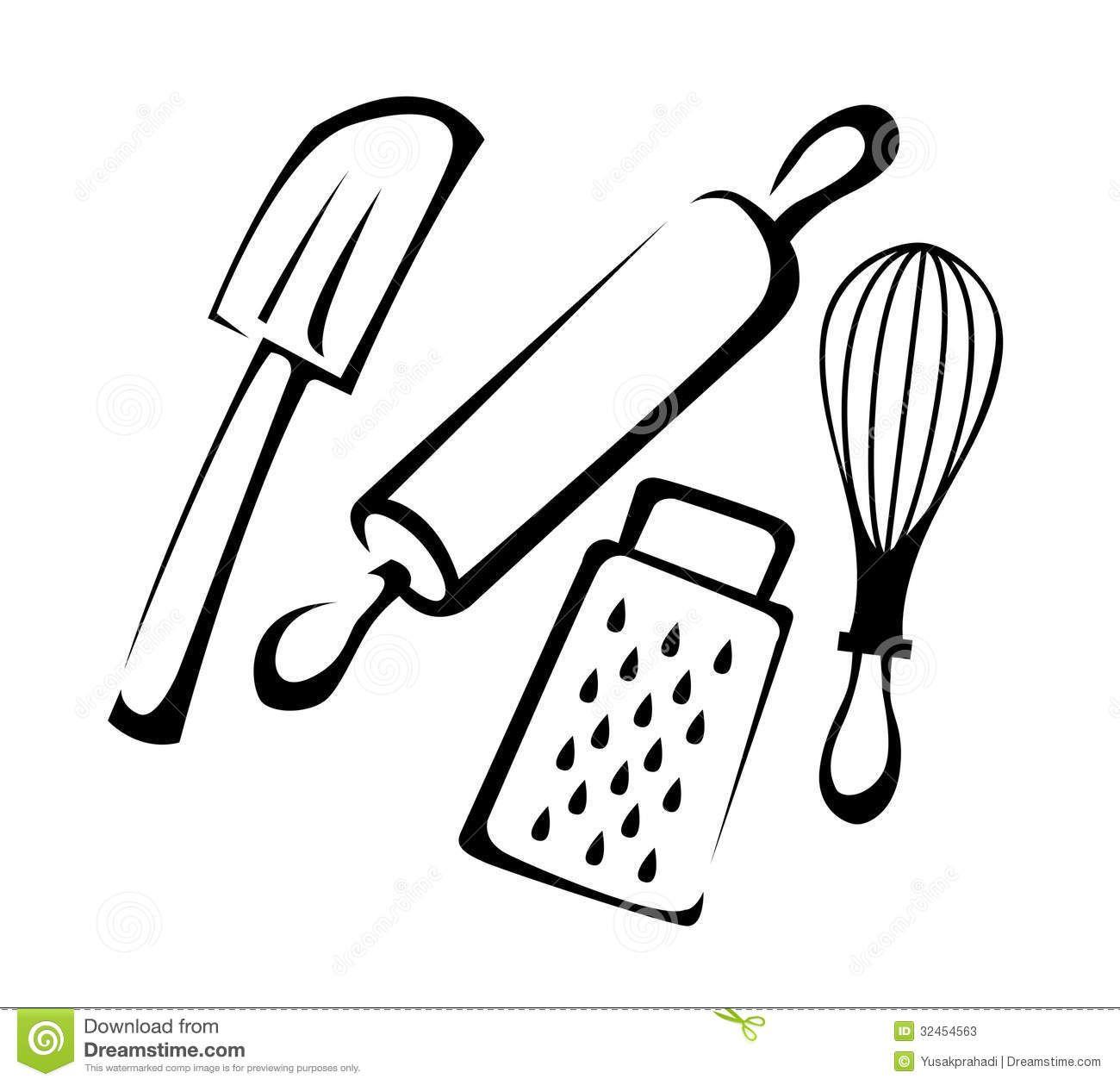 Chef utensils clipart clip art free Baking Utensils Stock Photos Image 32454563 | chef hats | Baking ... clip art free