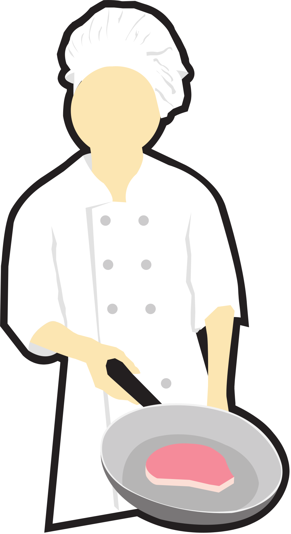Chef with turkey clipart transparent download File:Chef cooking clip art.svg - Wikimedia Commons transparent download