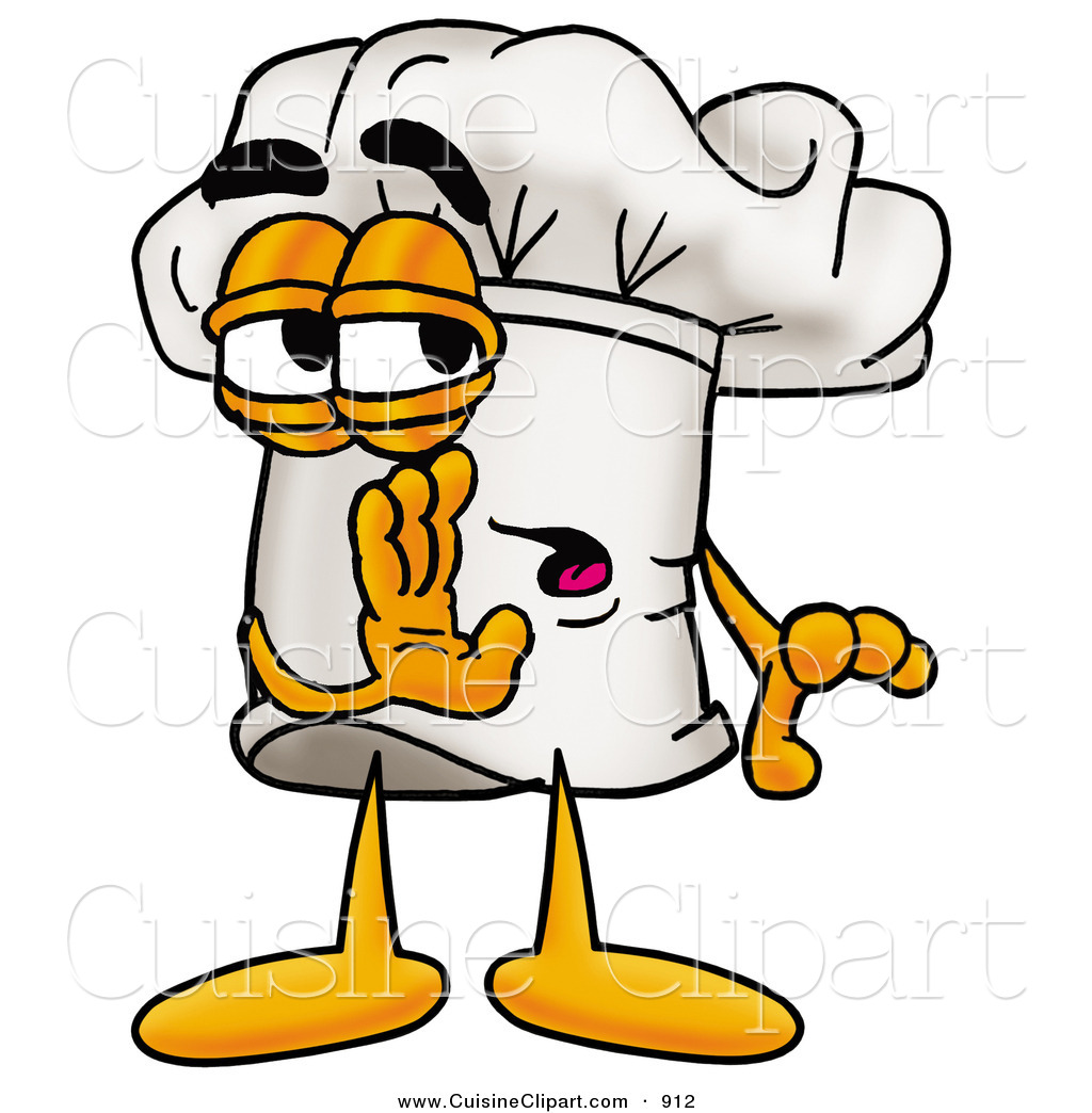 Chefs talking clipart vector stock Cuisine Clipart of a Sneaky Chefs Hat Mascot Cartoon Character ... vector stock