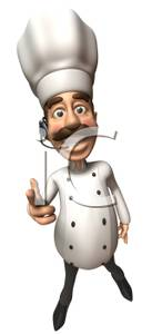 Chefs talking clipart graphic free library A Chef Talking on a Headset - Royalty Free Clipart Picture graphic free library