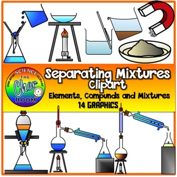 Chemistry separation column clipart svg freeuse stock Separating Mixtures Clipart   School things   Separating mixtures ... svg freeuse stock