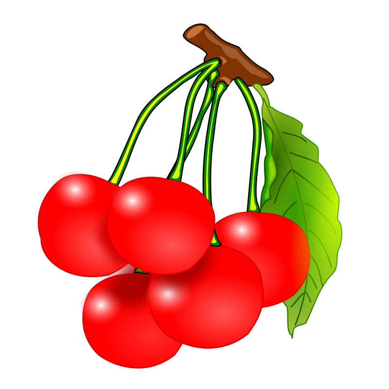 Cherries and apple clipart black and white image freeuse Cherries Clipart free   Recipes Vegetables Fruit Cherries Lemons ... image freeuse