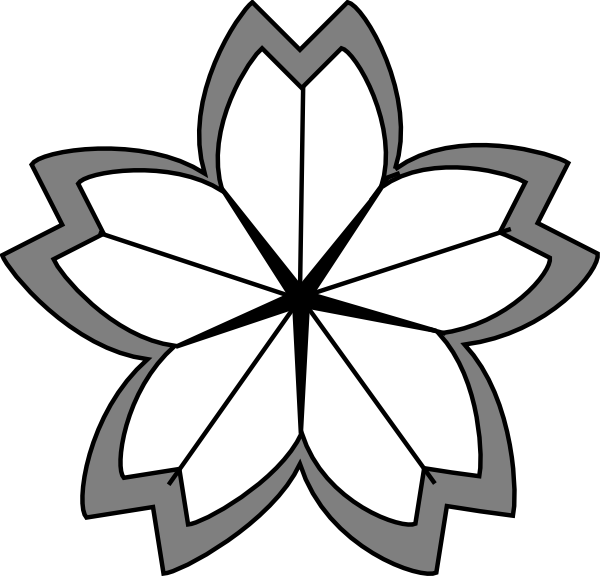 Cherry blossom tree clipart black and white picture free library Cherry Blossom Crest.2 Clip Art at Clker.com - vector clip art ... picture free library