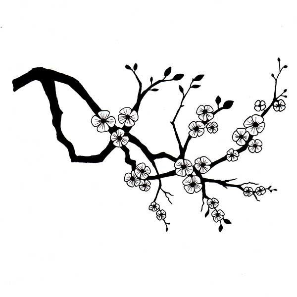 Cherry blossom clipart black and white clip art transparent library Cherry blossom clipart black and white 4 » Clipart Portal clip art transparent library