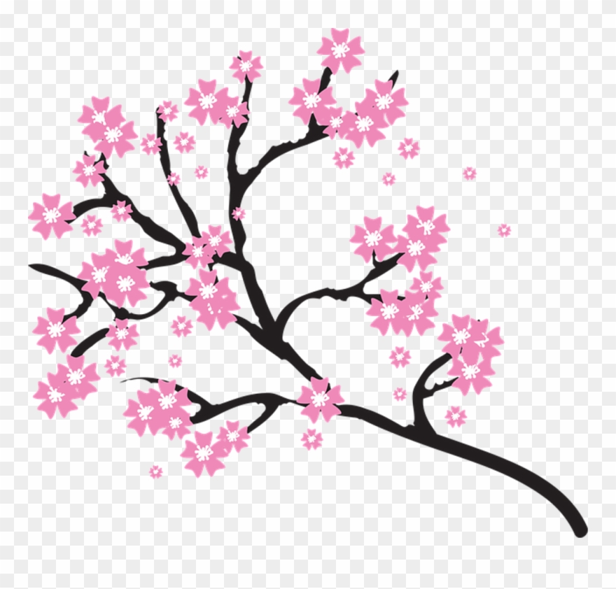 Cherry blossom clipart images banner black and white download Japanese Cherry Blossom Clip Art - Blossoms Clipart - Png Download ... banner black and white download