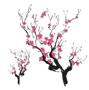 Cherry blossom silhouette clipart clip art transparent stock Cherry blossom silhouette   Asian Cherry Blossoms Temporary Tattoo ... clip art transparent stock