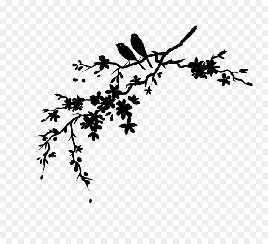Cherry blossom silhouette clipart clip royalty free Free Cherry Blossom Silhouette Png, Download Free Clip Art, Free ... clip royalty free