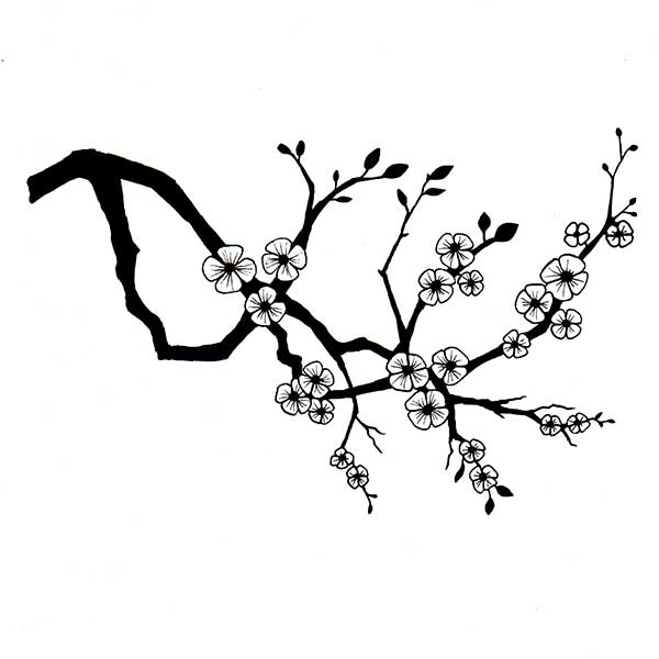 Cherry blossom silhouette clipart svg freeuse library Cherry Blossom svg freeuse library