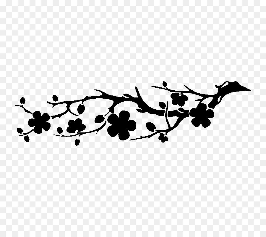 Cherry blossom silhouette clipart clip library Free Cherry Blossom Silhouette Png, Download Free Clip Art, Free ... clip library