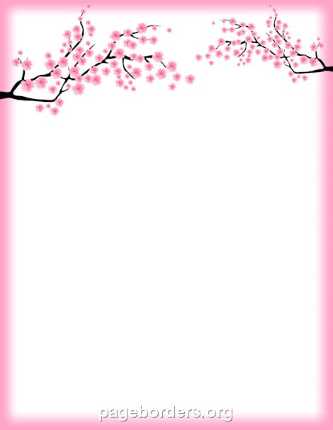 Cherry blossoms clipart vborder clip art royalty free download Cherry Blossom Border: Clip Art, Page Border, and Vector Graphics clip art royalty free download