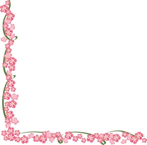 Cherry blossoms clipart vborder graphic black and white library Free Cherry Blossom Cliparts, Download Free Clip Art, Free Clip Art ... graphic black and white library