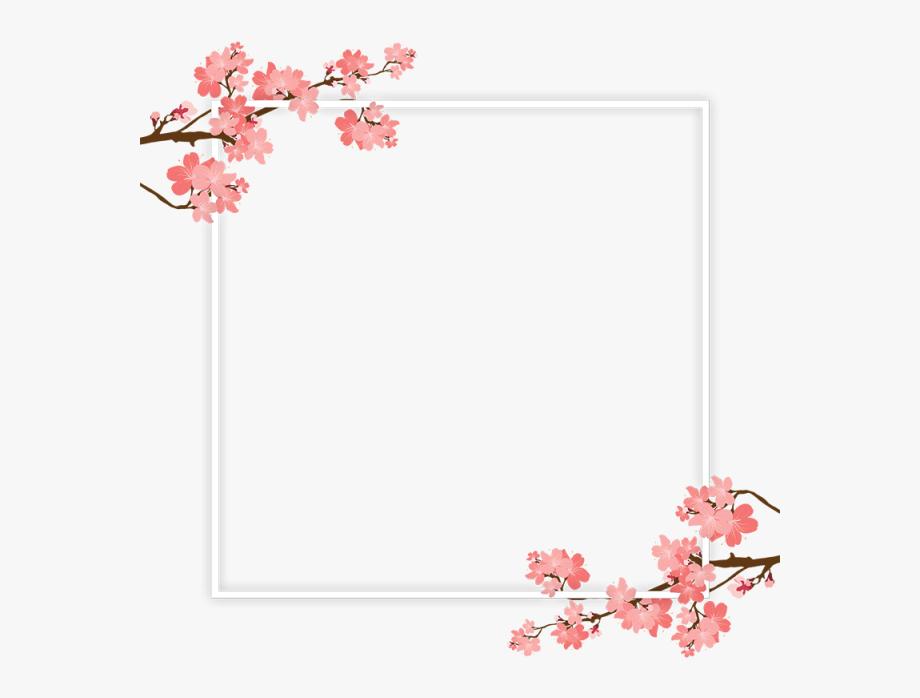 Cherry blossoms clipart vborder clipart library library Cherry Blossom Page Border , Transparent Cartoon, Free Cliparts ... clipart library library