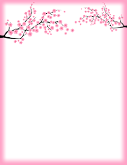 Cherry border clipart free graphic royalty free download Cherry Blossom Border | Artsie | Page borders, Flower border clipart ... graphic royalty free download