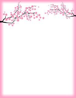 Cherry blossoms clipart vborder clip art black and white download Cherry Blossom Border | Artsie | Page borders, Flower border clipart ... clip art black and white download