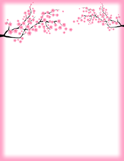 Cherry border clipart free png library Cherry Blossom Border | FRAMES & BORDERS | Page borders, Flower ... png library