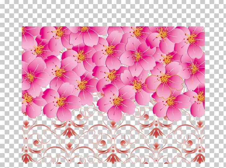 Cherry border clipart free picture black and white stock Cherry Blossom Pink PNG, Clipart, Blossom Vector, Border, Border ... picture black and white stock