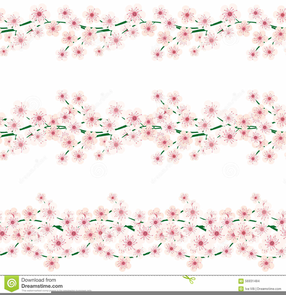 Cherry border clipart free picture black and white library Free Cherry Blossom Border Clipart | Free Images at Clker.com ... picture black and white library