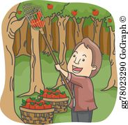 Cherry picking clipart free png transparent stock Fruit Picking Clip Art - Royalty Free - GoGraph png transparent stock