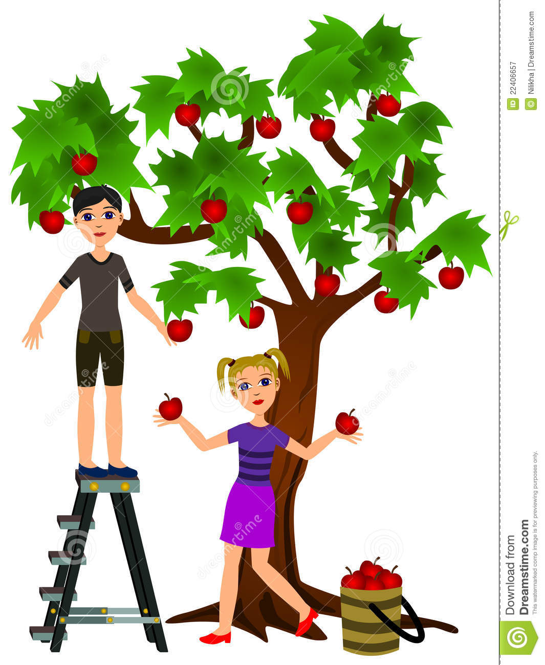 Cherry picking clipart free banner free stock Apple Orchard Clipart | Free download best Apple Orchard Clipart on ... banner free stock