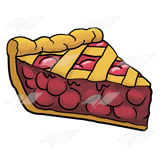 Cherry pie slice clipart png transparent Cherry Pie Slice, with criss-cross png transparent