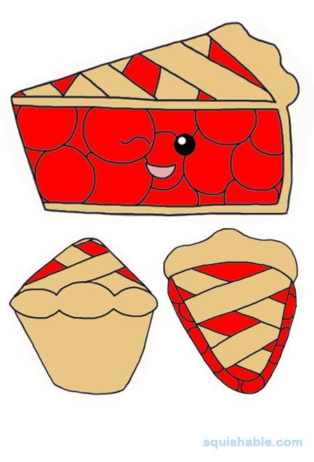 Cherry pie slice clipart jpg transparent stock squishable.com: Squishable Slice of Cherry Pie jpg transparent stock