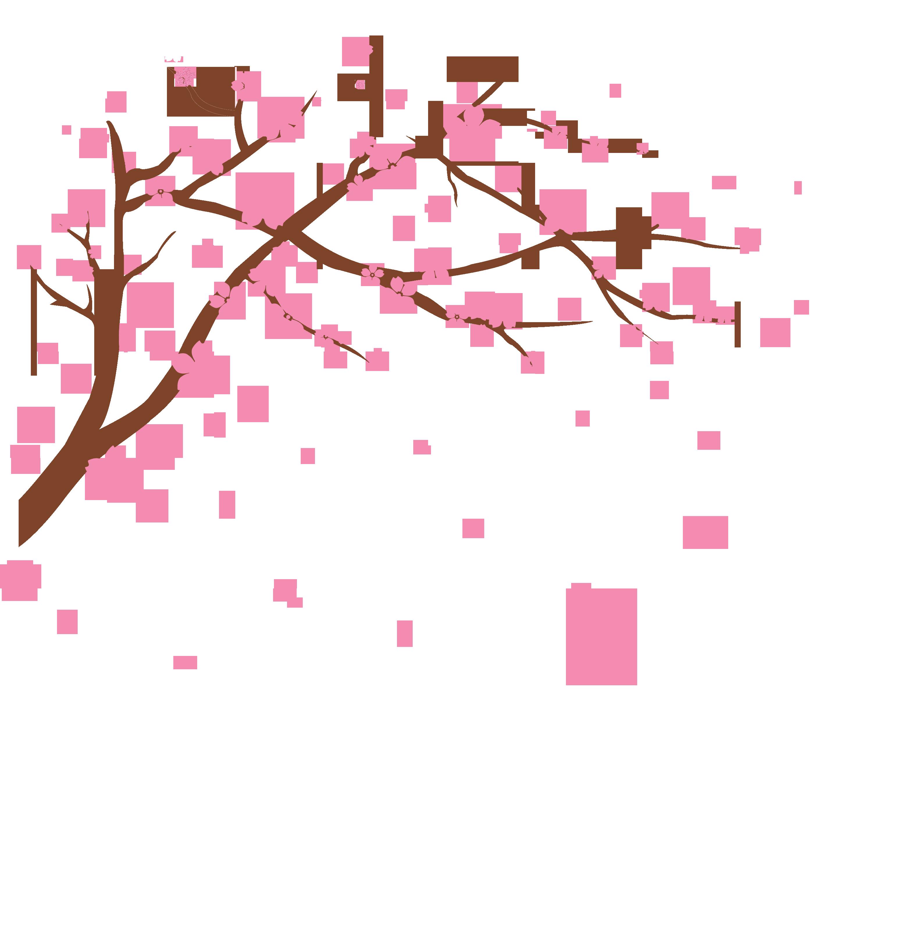 Cherry tree branch clipart jpg black and white Cherry blossom Clip art - Vector cherry 3105*3209 transprent Png ... jpg black and white