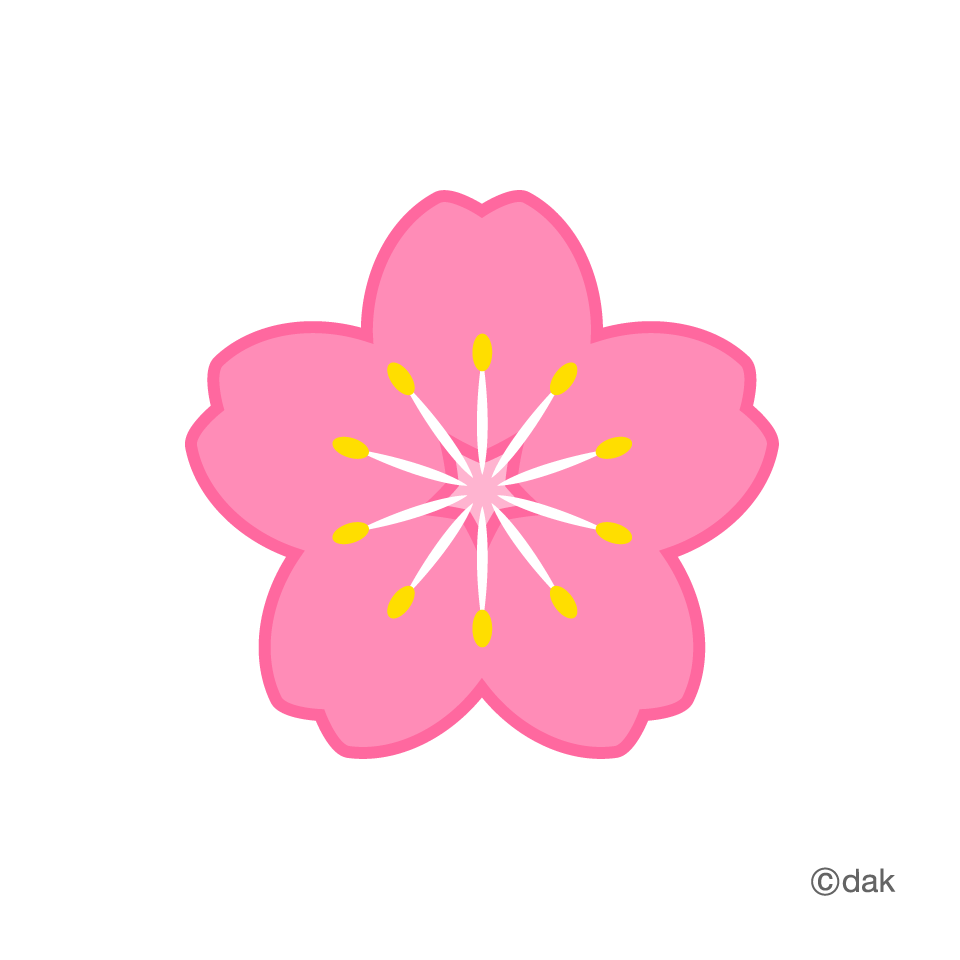 Symbol of the cherry. Flower icon clipart