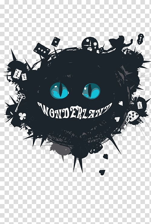 Cheshire cat skull clipart image black and white download Cheshire cat, Alice in Wonderland Alice\\\'s Adventures in Wonderland ... image black and white download