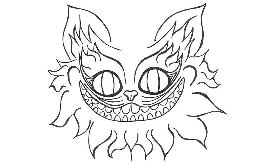 Cheshire cat skull clipart free stock cheshire cat drawing – gamingtv.org free stock