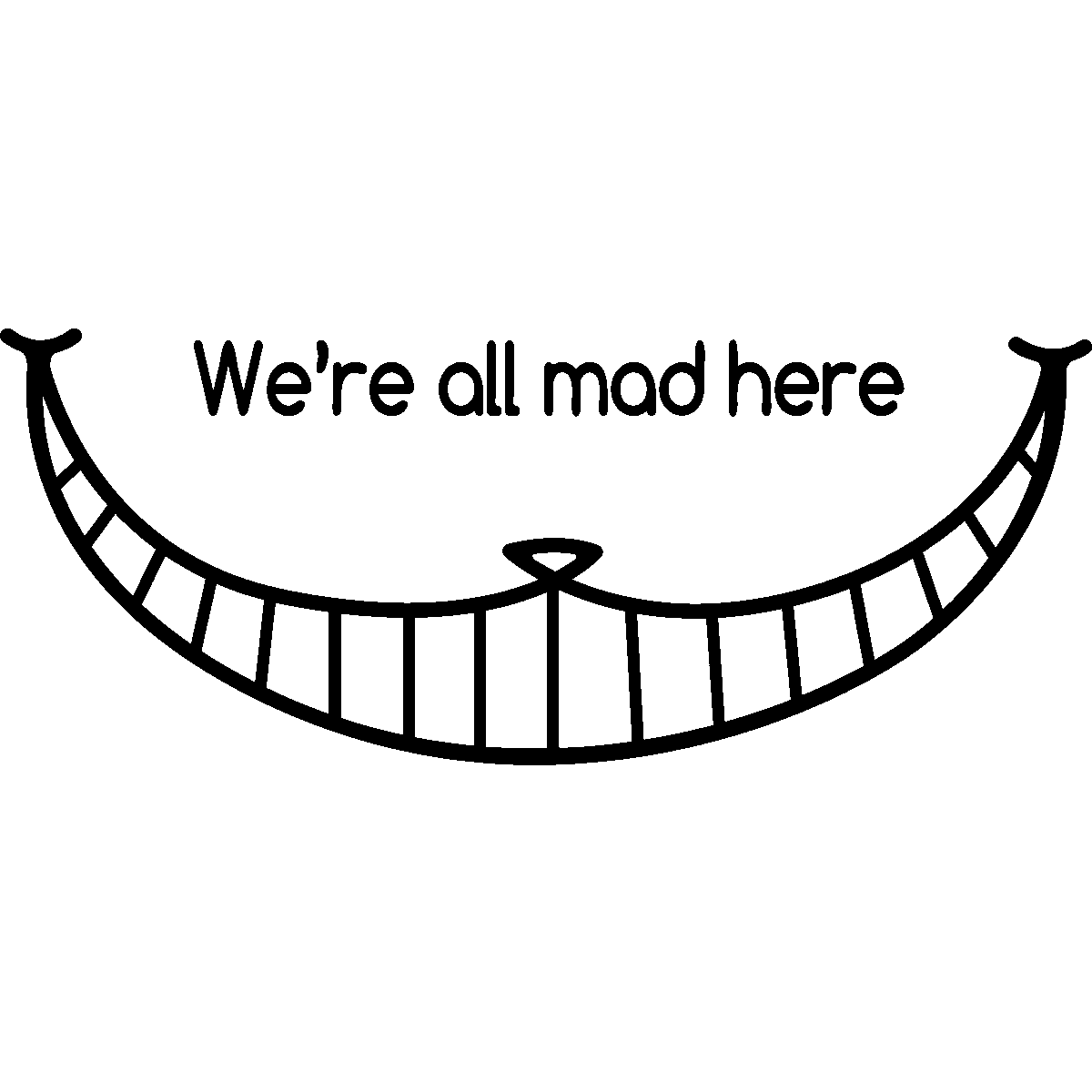 Cheshire cat tail clipart banner black and white library 28+ Collection of Cheshire Cat Smile Drawing | High quality, free ... banner black and white library