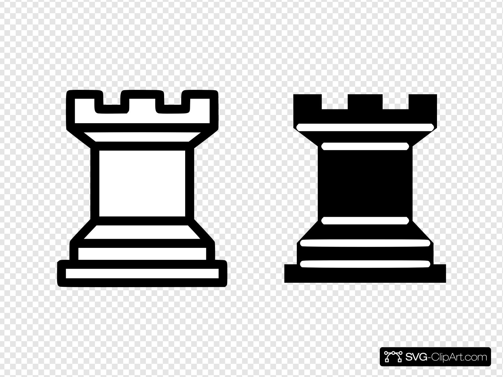 Chess clipart black and white royalty free library Black And White Simple Chess Pieces Clip art, Icon and SVG - SVG Clipart royalty free library