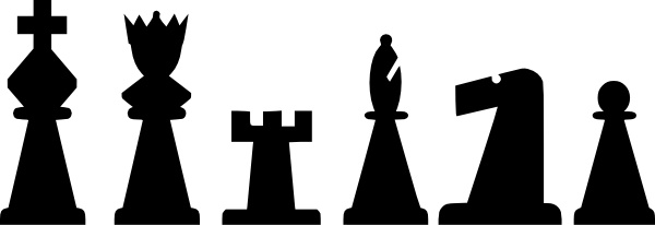 Chess clipart black white jpg royalty free stock Black Chess Pieces Set clip art Free vector in Open office drawing ... jpg royalty free stock