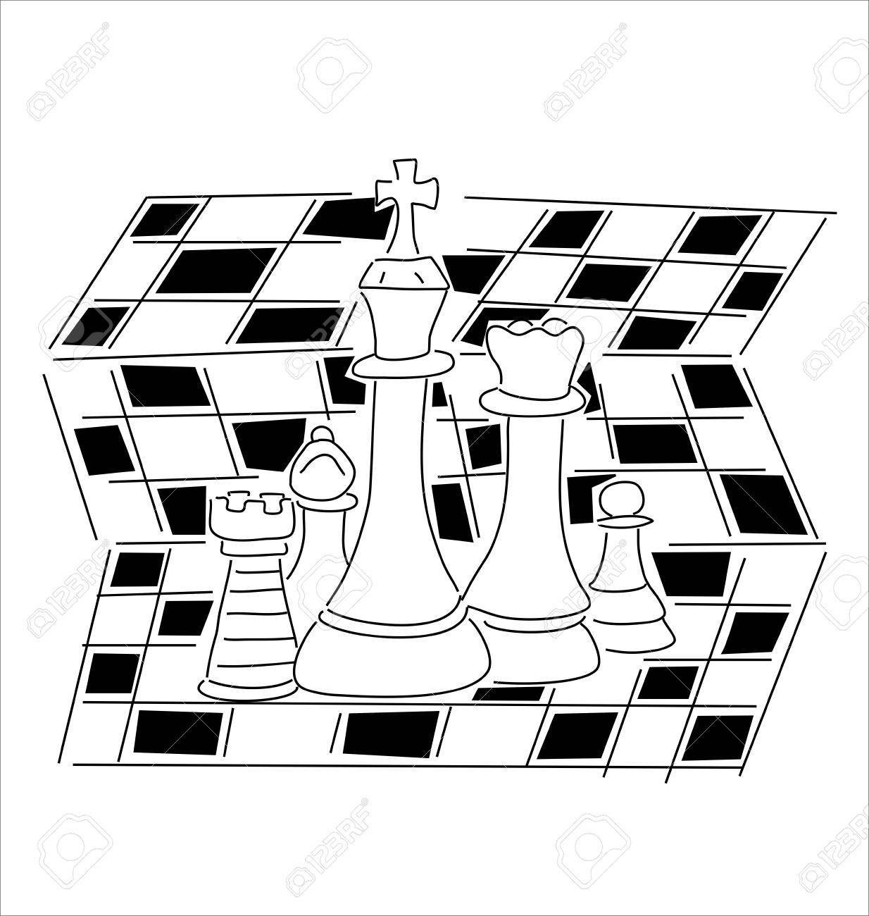 Chess clipart black white jpg black and white library Chess clipart black white 5 » Clipart Portal jpg black and white library