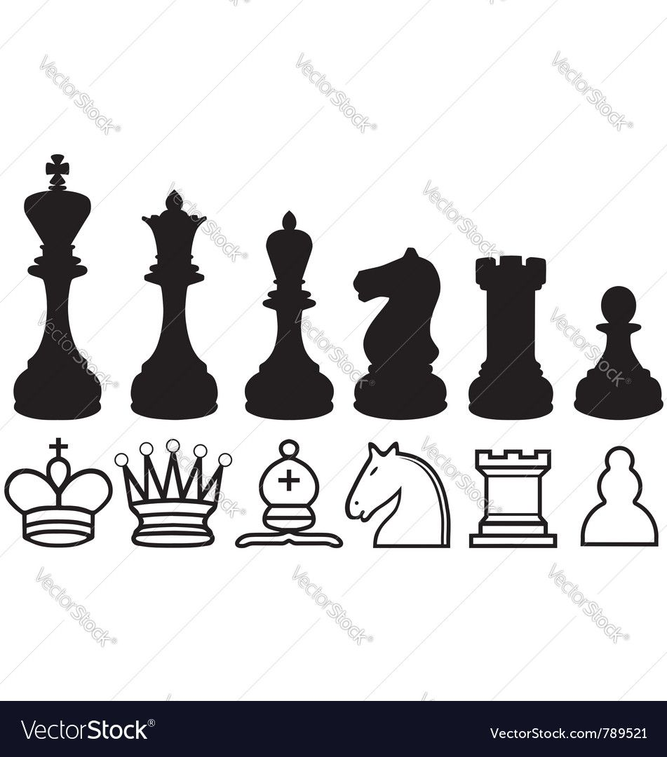 Chess figures clipart vector royalty free stock Pin by Jeanne Ashman on Ideas for leather | Chess pieces, Chess ... vector royalty free stock
