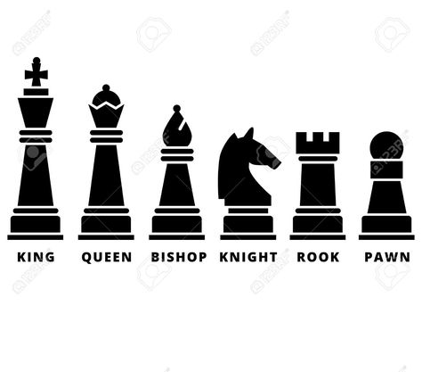 Chess icons cliparts vector library library Pinterest vector library library