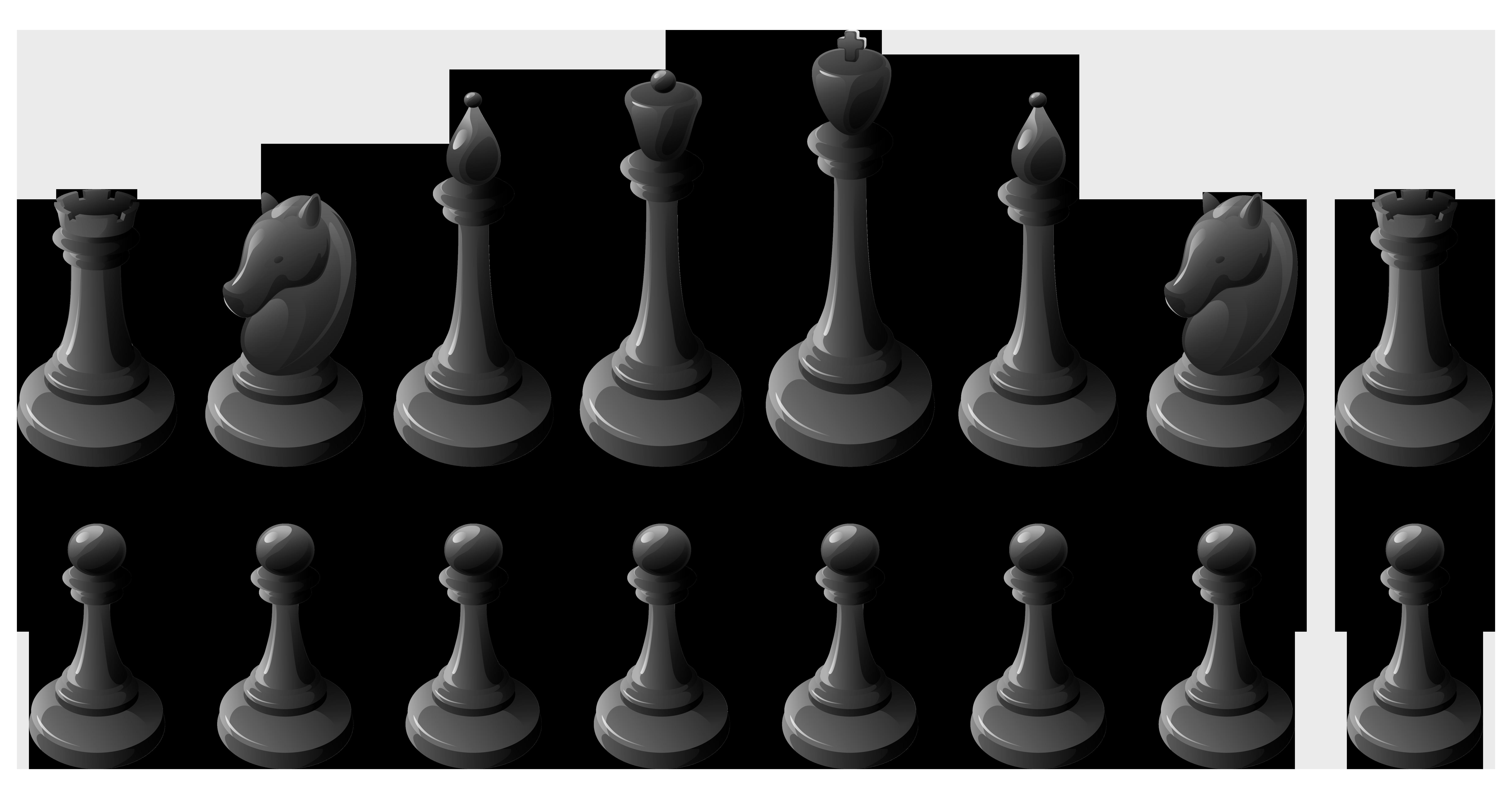 Chess set clipart png transparent stock Black Chess Pieces PNG Clipart - Best WEB Clipart png transparent stock