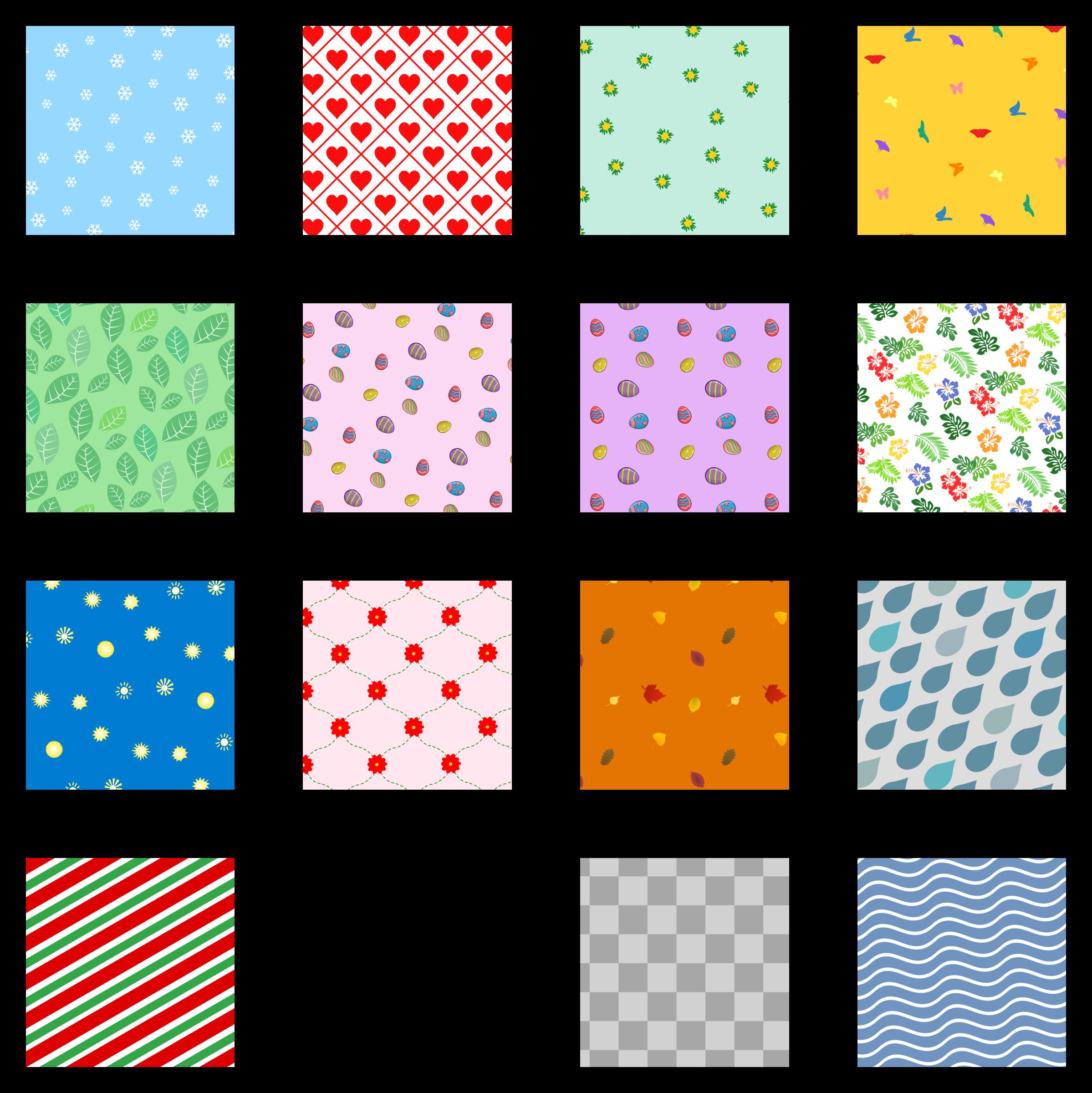 Cheveron snowflake clipart clipart black and white Clipart - Pattern set