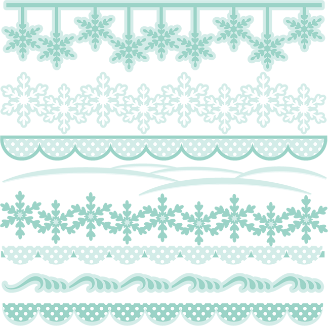 Snowflake winter border clipart svg royalty free download Winter Borders SVG cutting files winter svg cuts winter border ... svg royalty free download