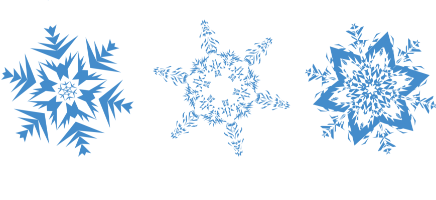 Traditional snowflake clipart transparent background png png-transparent-snowflakes.png (869×400) | Snowflakery | Pinterest ... png
